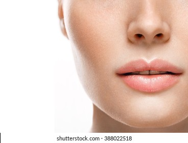 Woman lips nose nature skin