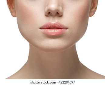 Woman lips nose nature skin