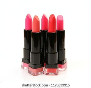 woman lipstick on white background