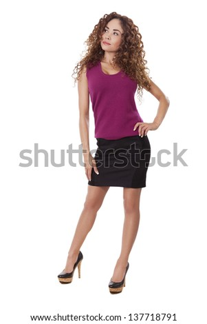 98486d59d3e Woman Little Black Skirt Heels Looks Stock Photo (Edit Now ...