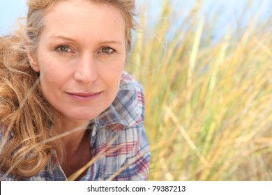 Woman in long grass