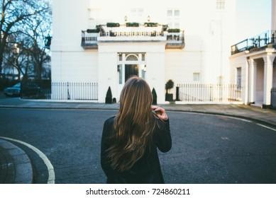 Woman Looking Away in London