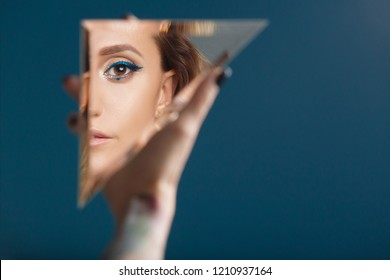 Image result for reflections in a mirror/woman