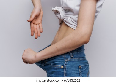 Woman lost weight, diet