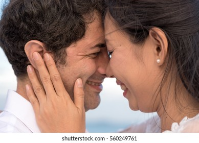 Woman in love with boyfriend, Close up