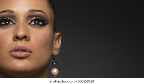 Woman, make up face