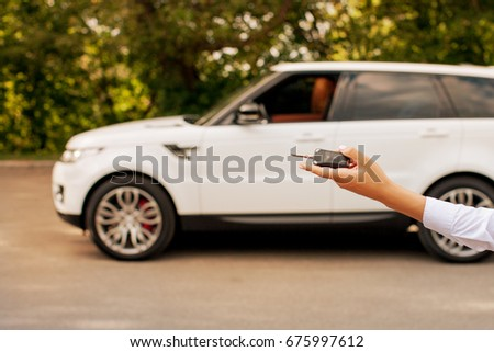 Woman Manager Keys Hand White Luxury Stock Photo Edit Now