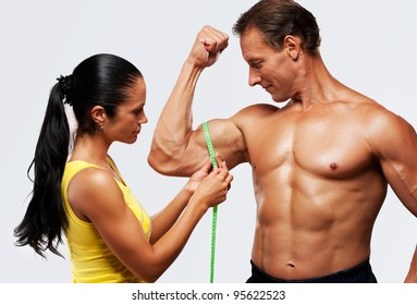Measuring Biceps Images, Stock Photos & Vectors | Shutterstock
