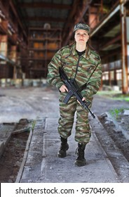 A woman in military operation - production photos
