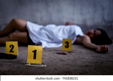 Woman was murdered and raped in abandoned house marked with evidence condom.
