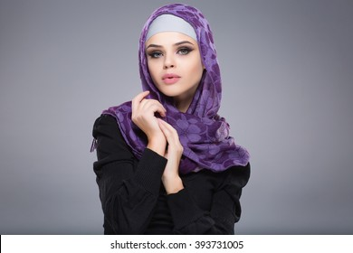 Woman in a Muslim scarf