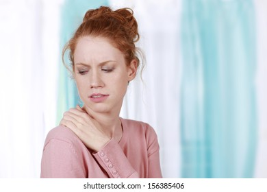 Woman with neck tensions