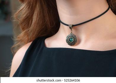 woman necklace promotion