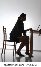 A woman in the office