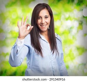woman okay gesture