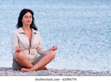 Woman on the beach relaxing