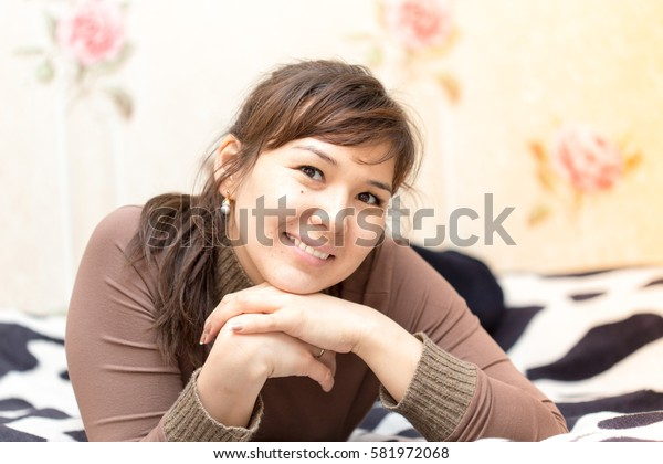 woman on the bed