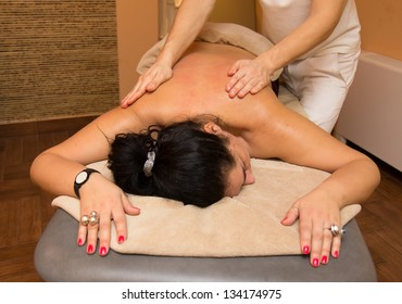 Woman on the massage