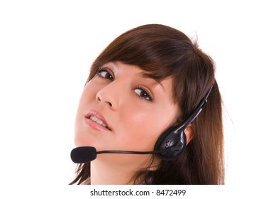 woman on a phone support