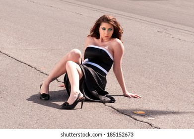 Woman on the road - Lost In Thought