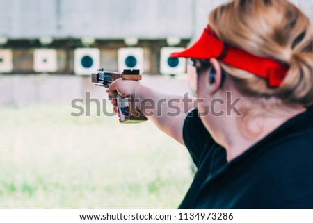 dc258c58fcbbb Woman On Sport Shooting Training Shooting Stock Photo (Edit Now ...