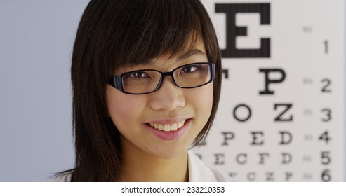 Woman optometrist