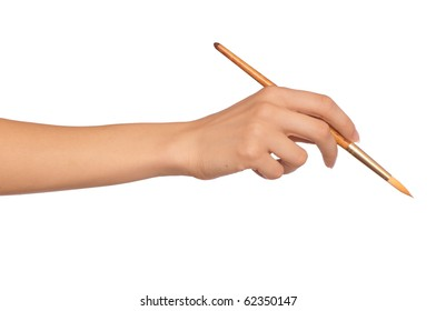 woman painting a picture with a brush