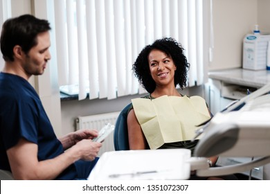 Woman patient at dentist's private practice.