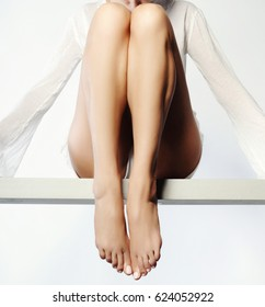 woman with perfect legs - legs care concept