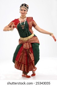 Woman performing bharatanatyam dance