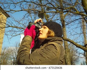Woman photografer