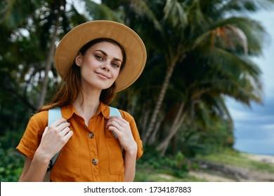 Woman porn erotic tropics sundress island