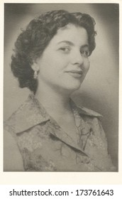 Woman portrait from 1950's