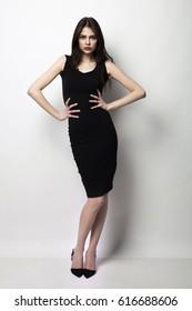 woman posing in a photo studio
