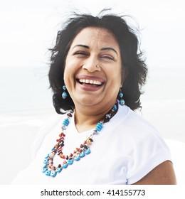 Woman Posing Portrait Indian Ethnicity Concept