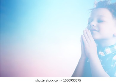 Woman praying and worship to GOD in Church.Senior woman pray to GOD.Hand praying and palm up,Concept Praise and worship with faith, spirituality and Surrender.