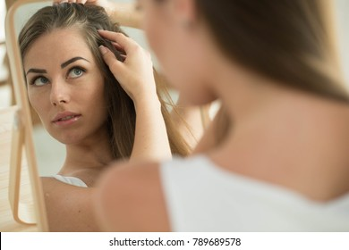 Woman problem hair