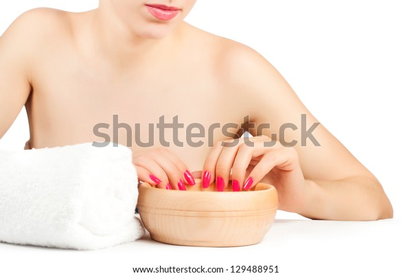 woman at procedures in the spa salon