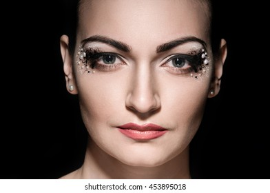 Woman with professional makeup