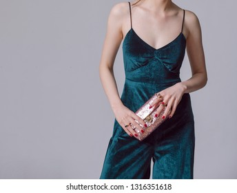 Woman with purse