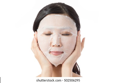 woman to put a face mask, skin care