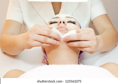 Woman receiving cleansing therapy