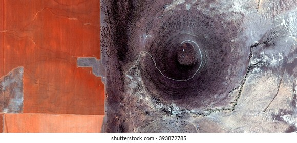woman in red,allegory, tribute to Pollock, abstract photography of the deserts of Africa from the air,aerial view, abstract expressionism, contemporary photographic art, abstract naturalism,