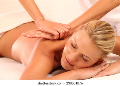 woman relax while a massage