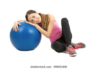 Woman relaxing after pilates exercise