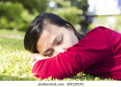 Woman Relaxing at Park