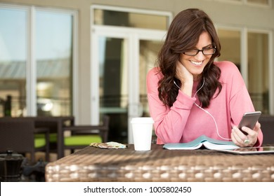 Woman relaxing and reading.