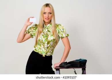 The woman represents a payment card