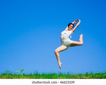 woman running funny