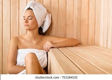 Woman In the Sauna